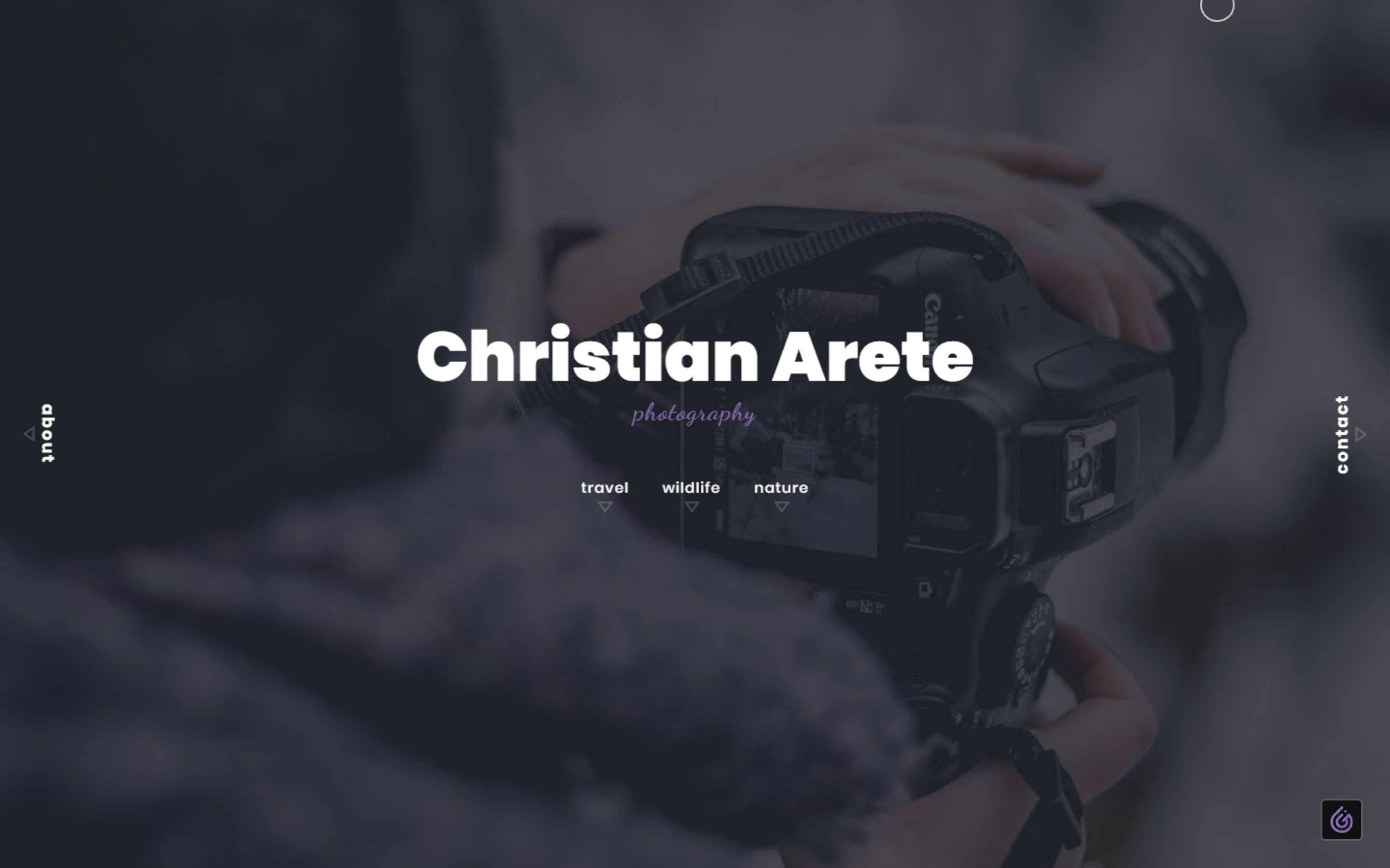 Bootstrap 4 Modern Photography Portfolio Page Concept