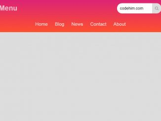 CSS Responsive Header with Logo and Menu | CodeHim