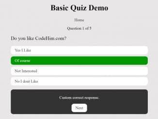 jQuery Question Answer Quiz Plugin
