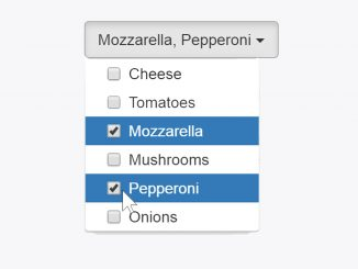 Bootstrap Multiselect Dropdown with Checkboxes