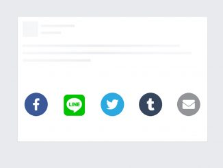 jQuery Social Share Buttons Plugin with Font Awesome