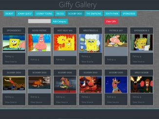 jQuery Plugin to Embed Giphy Images - Bootstrap Giffy Gallery