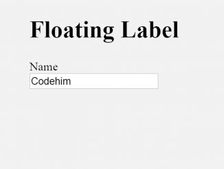 jQuery Floating Label - Move Placeholder to Top on Typing