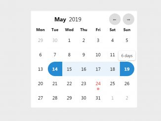 Datepicker in JavaScript code with Example - Lightpick