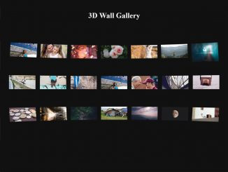 jQuery Photo Wall a 3D Image Gallery Plugin