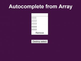 JavaScript / jQuery Autocomplete Textbox From Array