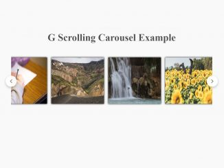 jQuery Plugin to Create Google Like Scrolling Carousel