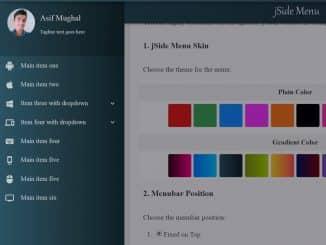 jSide Menu jQuery Side Navigation Menu with Dropdowns