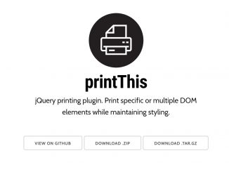 Print Part of a Web Page with jQuery PrintThis Plugin