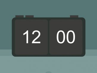 CSS and JavaScript Digital Clock Widget