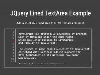 HTML Textarea with Line Numbers - jQuery Lined Textarea