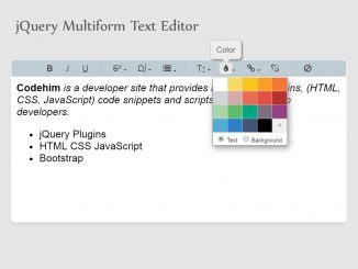 WYSIWYG Rich Text Editor with HTML5 & jQuery