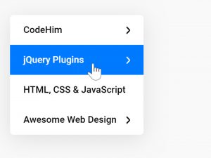 jQuery Vertical Menu with Submenu - Stack Menu