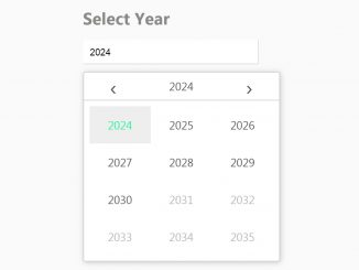 jQuery Datepicker Year Only - YearPicker.js