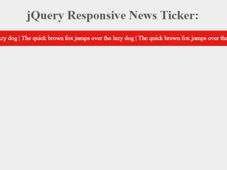 jQuery News Ticker with Responsive Design