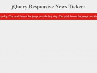 jQuery News Ticker with Responsive Design