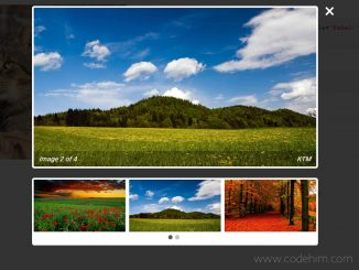 jQuery Lightbox Gallery with Thumbnails - mBox