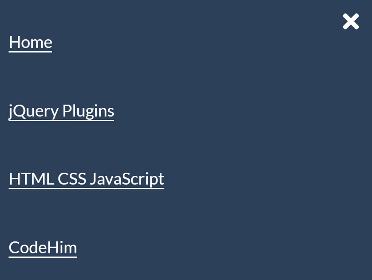 Responsive Hamburger Menu with jQuery & CSS