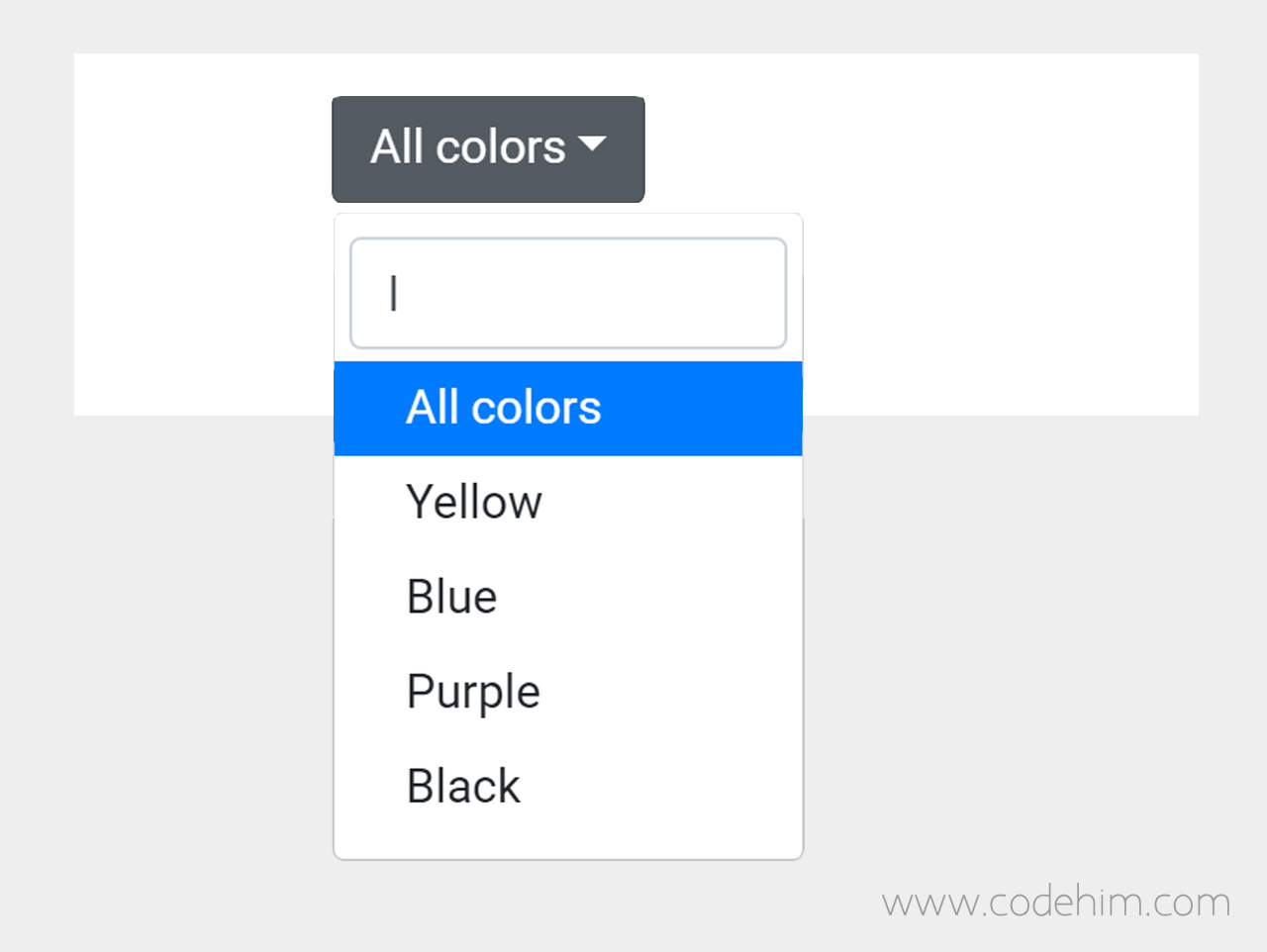 Bootstrap Select Dropdown with Search Box