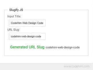 Convert Title to Slug with jQuery Slugify JS