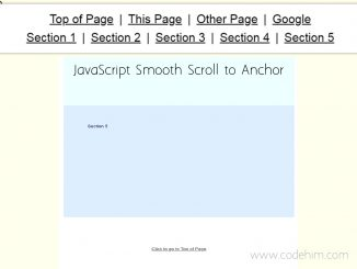JavaScript Smooth Scroll to Anchor without jQuery