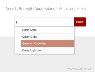 Search Bar with Suggestions using jQuery