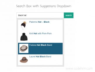 Search Box with Suggestions Dropdown - uniBox.js