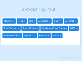 Vanilla JavaScript Tag Input with CSS