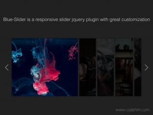 jQuery Multiple Image Carousel Slider - Blue-Slider