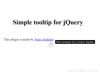 jQuery Simple Tooltip on Hover - simpleTooltip