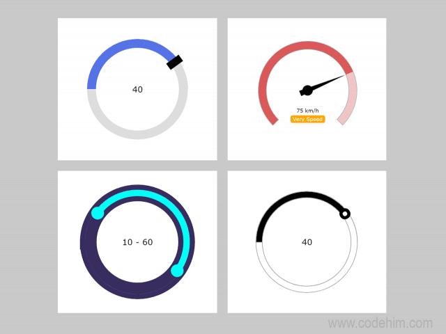 Round Range Slider HTML Control in jQuery