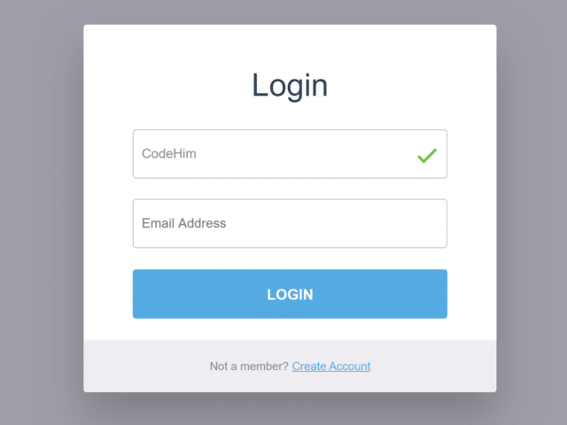 Login Page in HTML5 with Validation