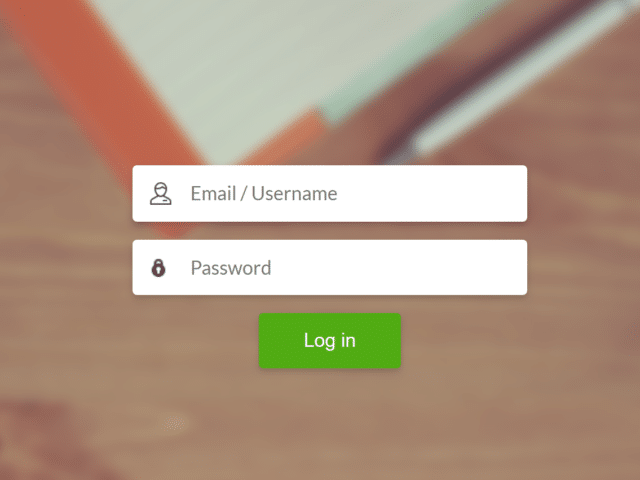 Login Page with Background Image