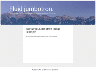 Bootstrap Jumbotron with Image Background
