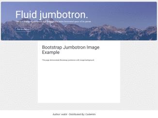 Bootstrap Jumbotron with Image Background