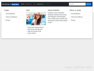 Bootstrap 5 Mega Menu Responsive Examples