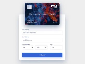 Credit Card Checkout Form UI using Vue.js